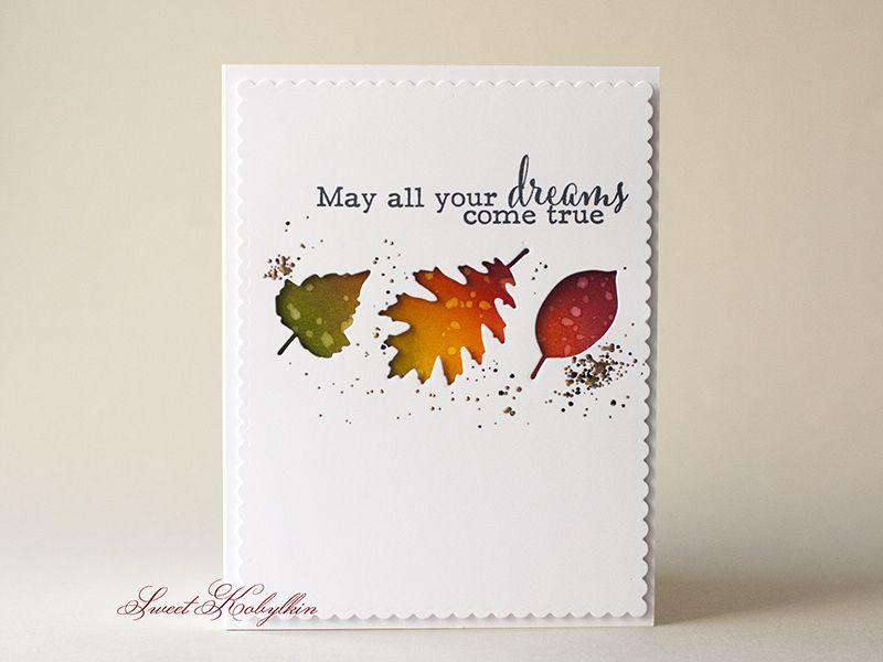 """Falling Leaves"" Dies | My Favorite Things #MFT (on autumn cards + crafts|fav)"