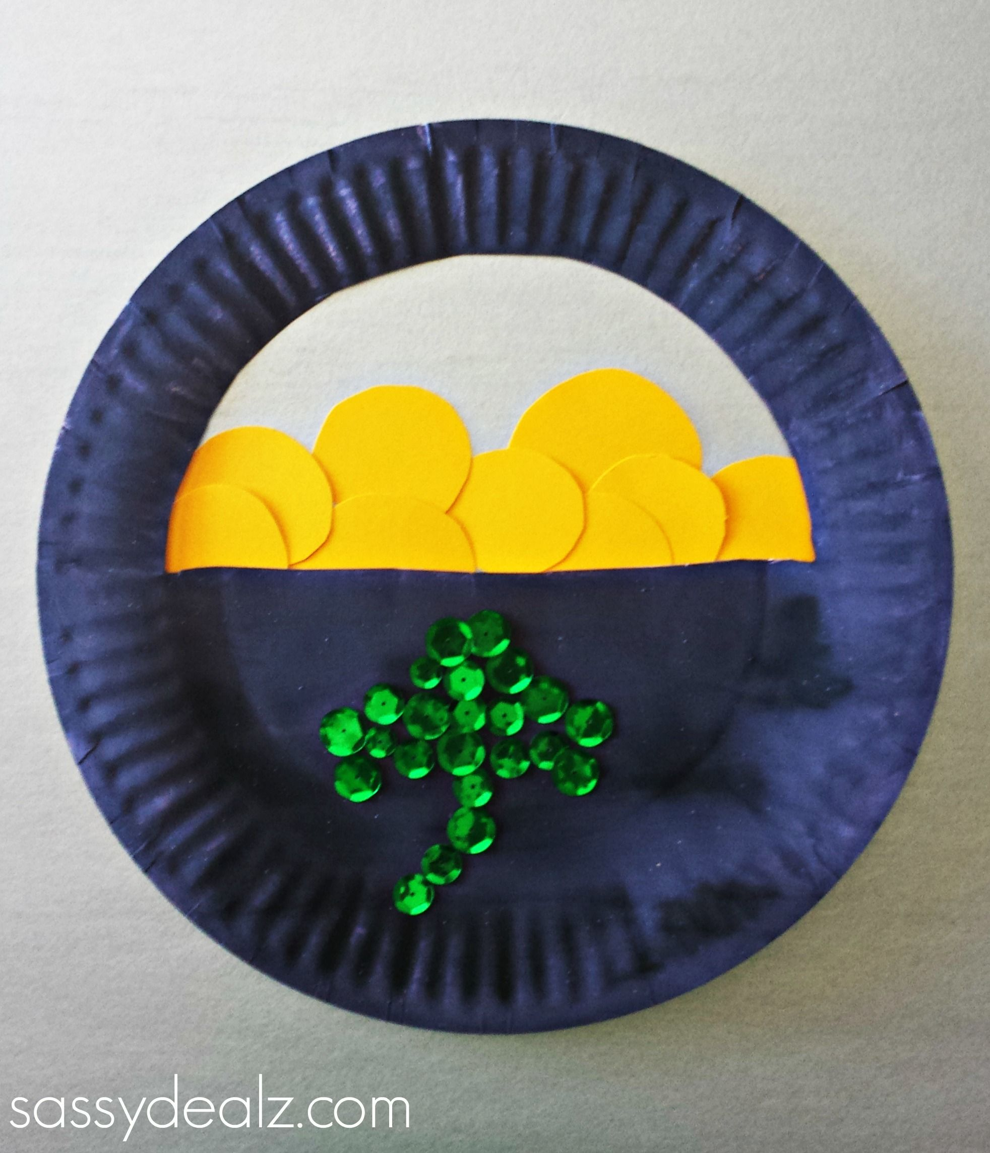 Pot O Gold Paper Plate Craft
