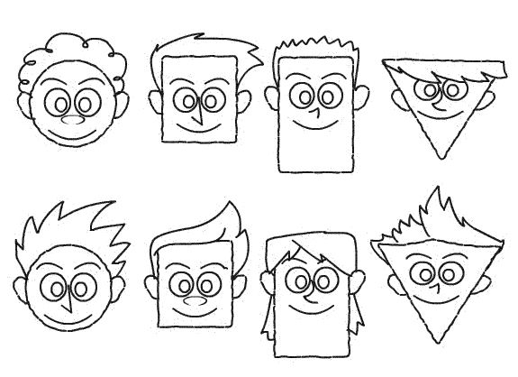Create Hundreds Of Cartoon Faces With A Few Simple Shapes Cartoon Faces Funny Cartoon Faces Cartoon Drawings