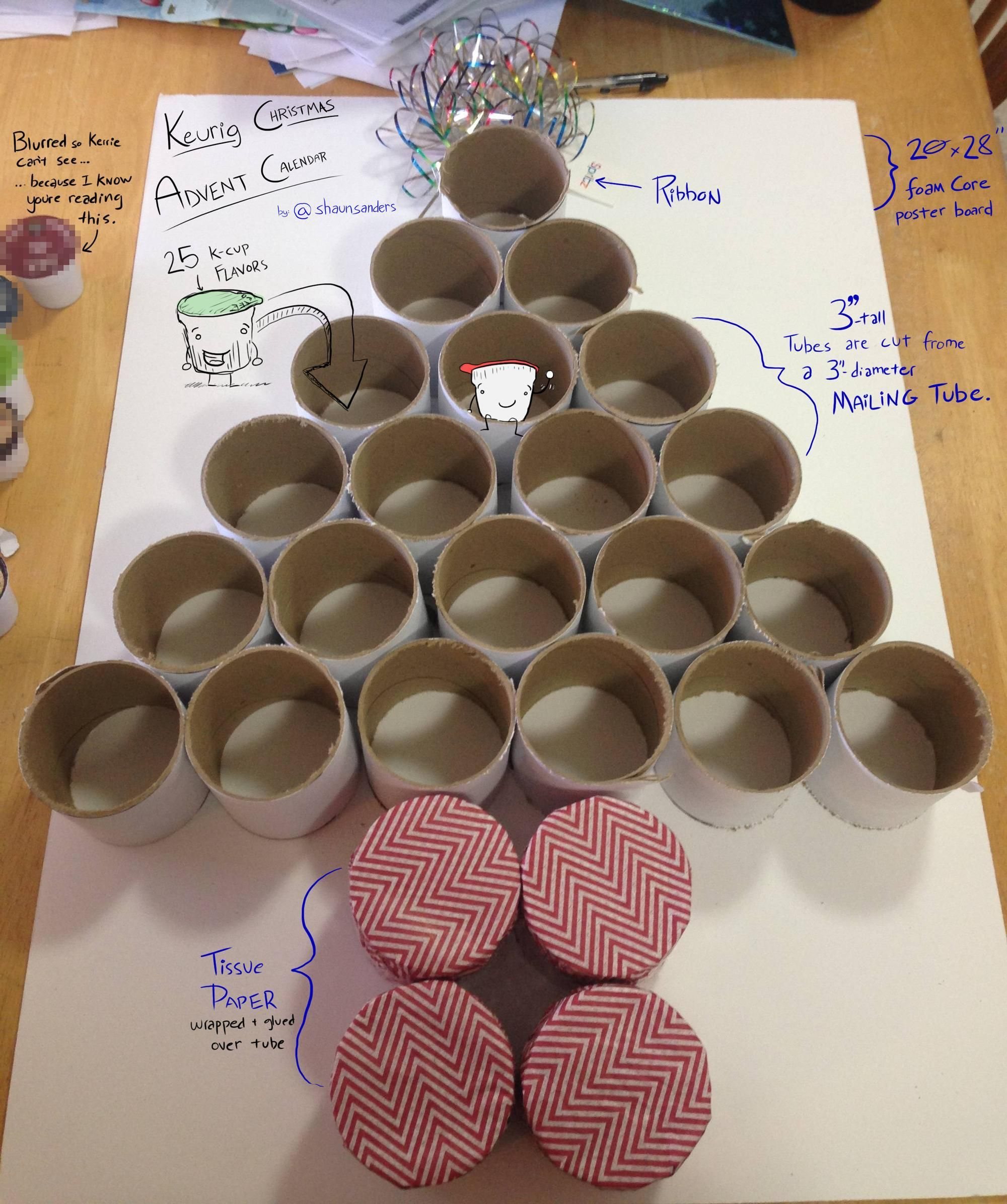 Make Your Own Calendar Art And Craft : Make your own keurig k cup pack advent calendar courtesy