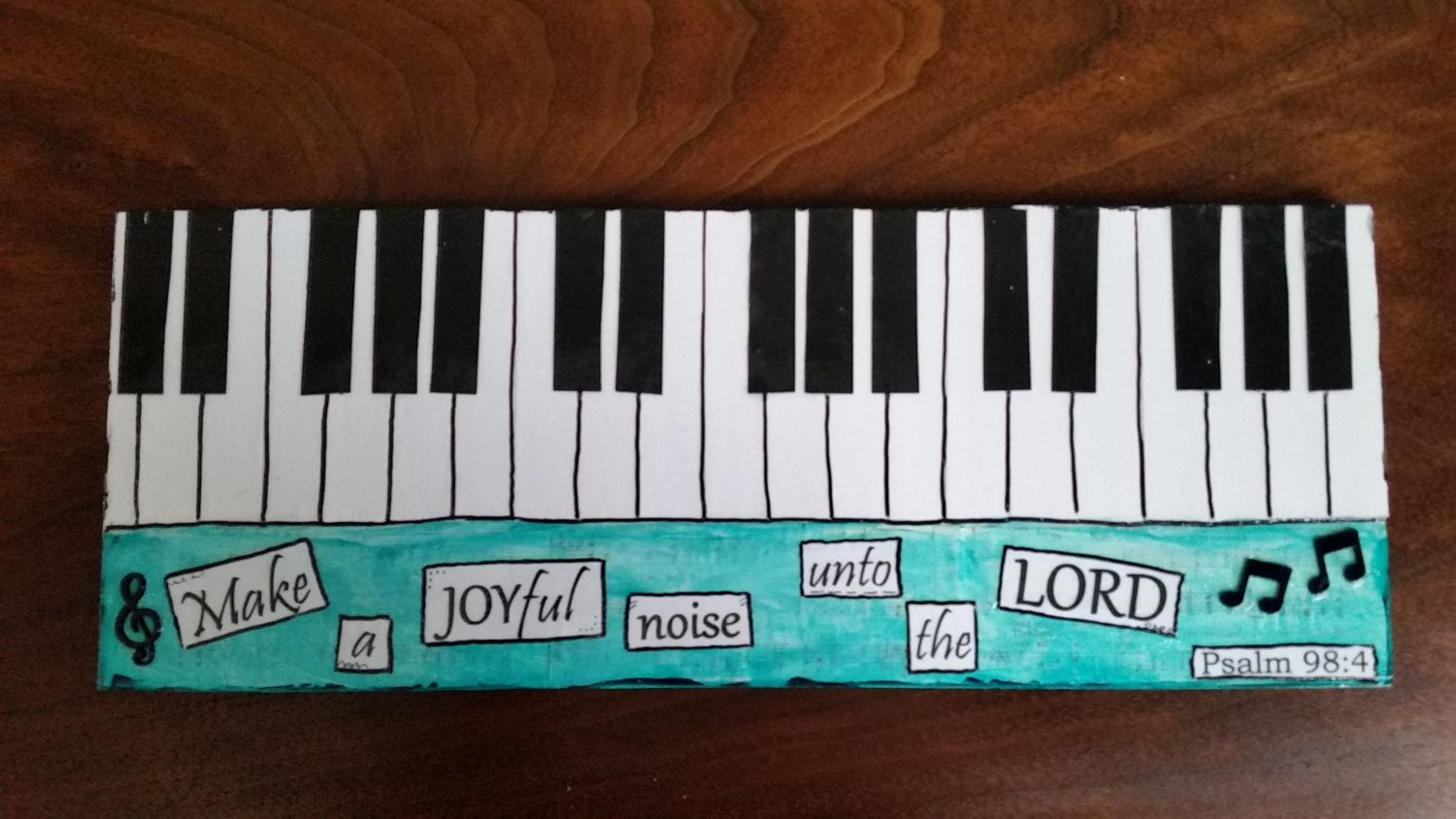Wood Scripture Sign; Psalm 98:4; Make a Joyful Noise; Home Decor; Christian Art; Gifts for Musicians; Bible Verse Art; Piano Art by TheInspiredCrafter on Etsy
