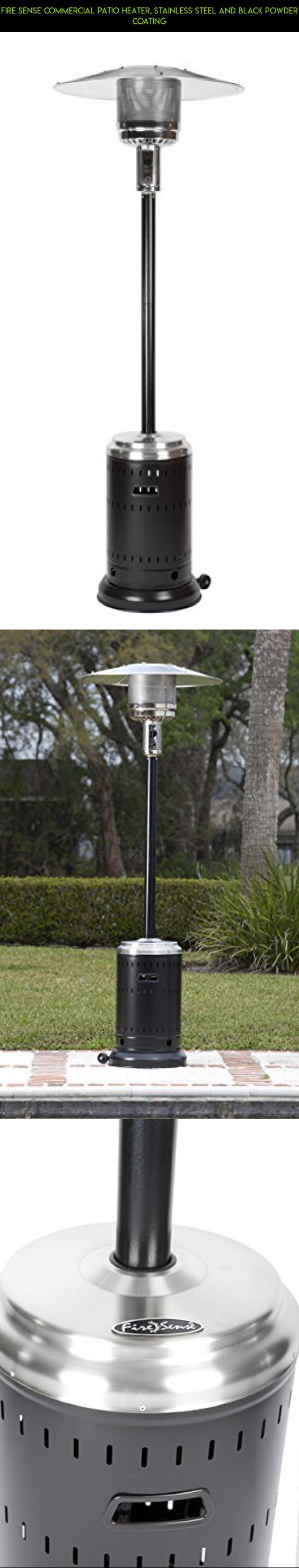 Fire Sense Commercial Patio Heater, Stainless Steel And Black Powder  Coating #shopping #gadgets