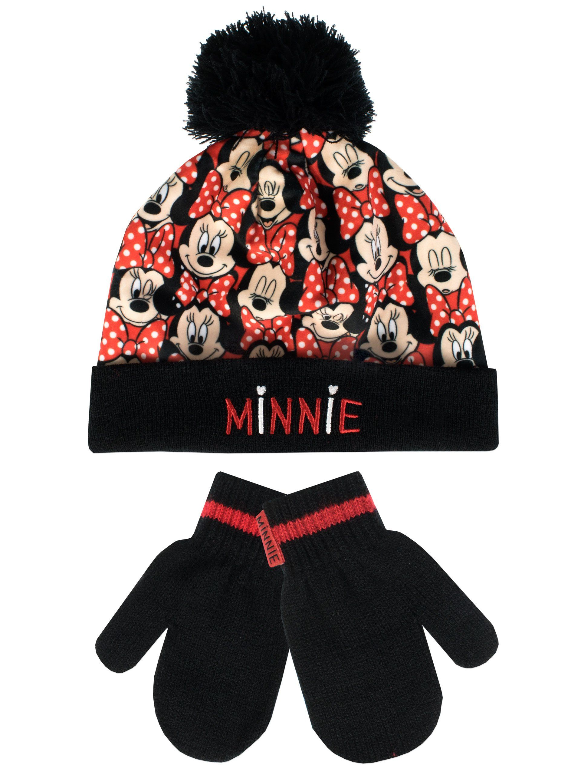 fdfe864f032 Disney Minnie Mouse Girls  Minnie Mouse Hat and Gloves Set Size 2 - 4 Years