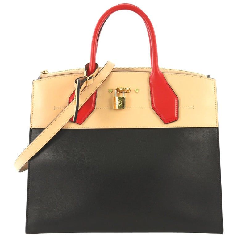 Louis Vuitton City Steamer Leather Mm Tote Bag Multiple Leather