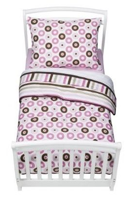 Mod Dots and Stripes 4 pc Toddler Bedding Set [ Bacati.com ] #toddler #decor #Bacati