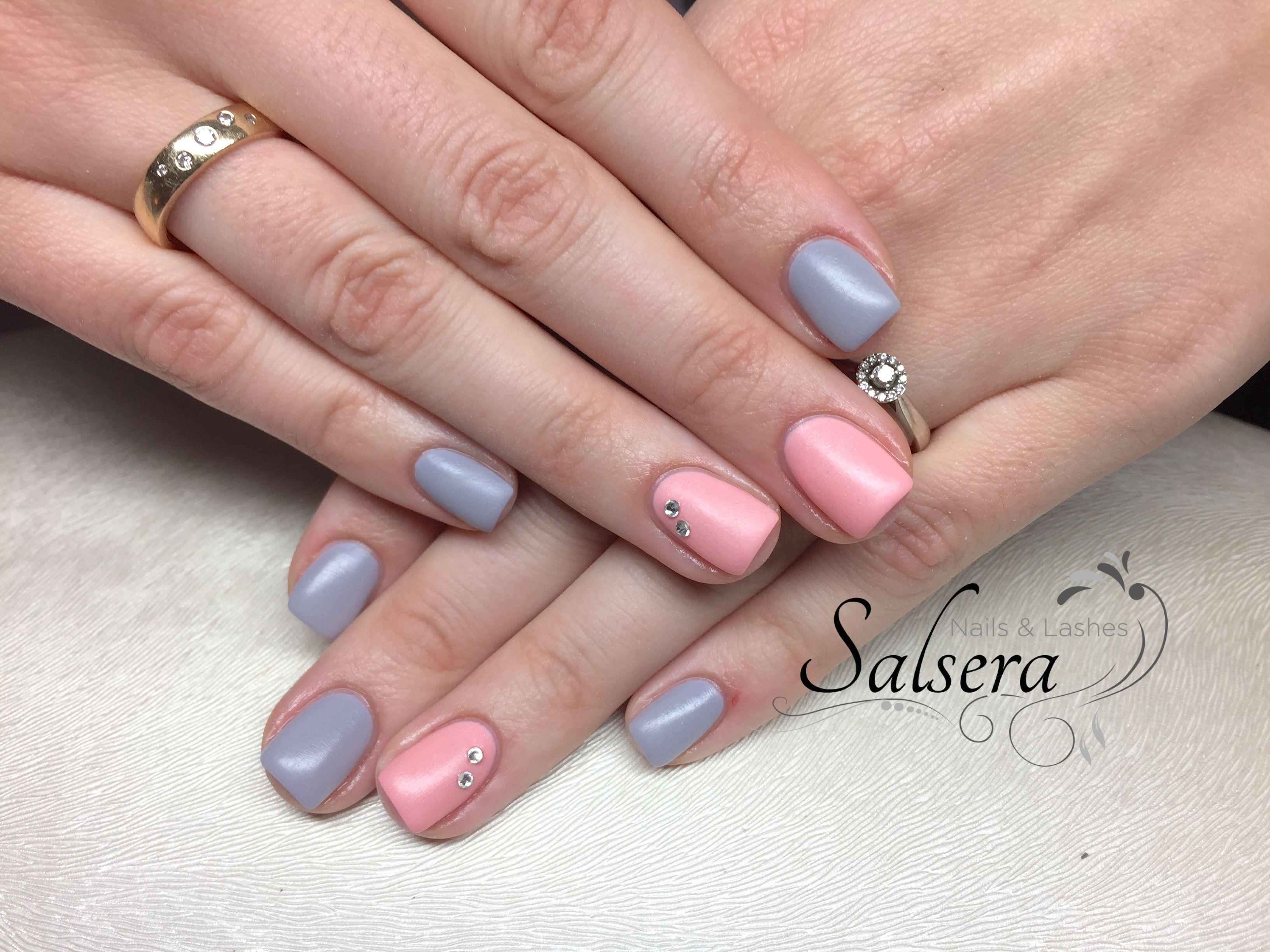 Nails Nägel Nageldesign Naildesign Squarenails Fullcover Rosé grey ...