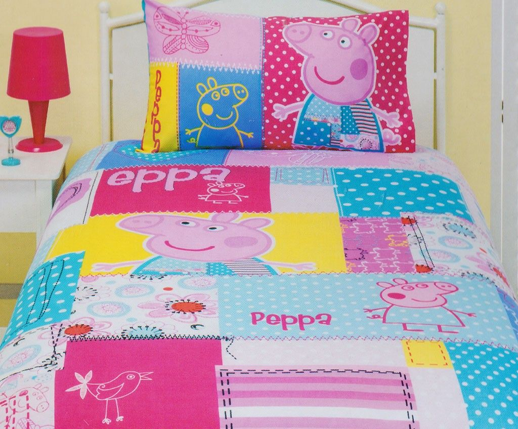 Peppa Pig Patch Quilt Cover Set In 2020 Quilt Cover Sets Patch