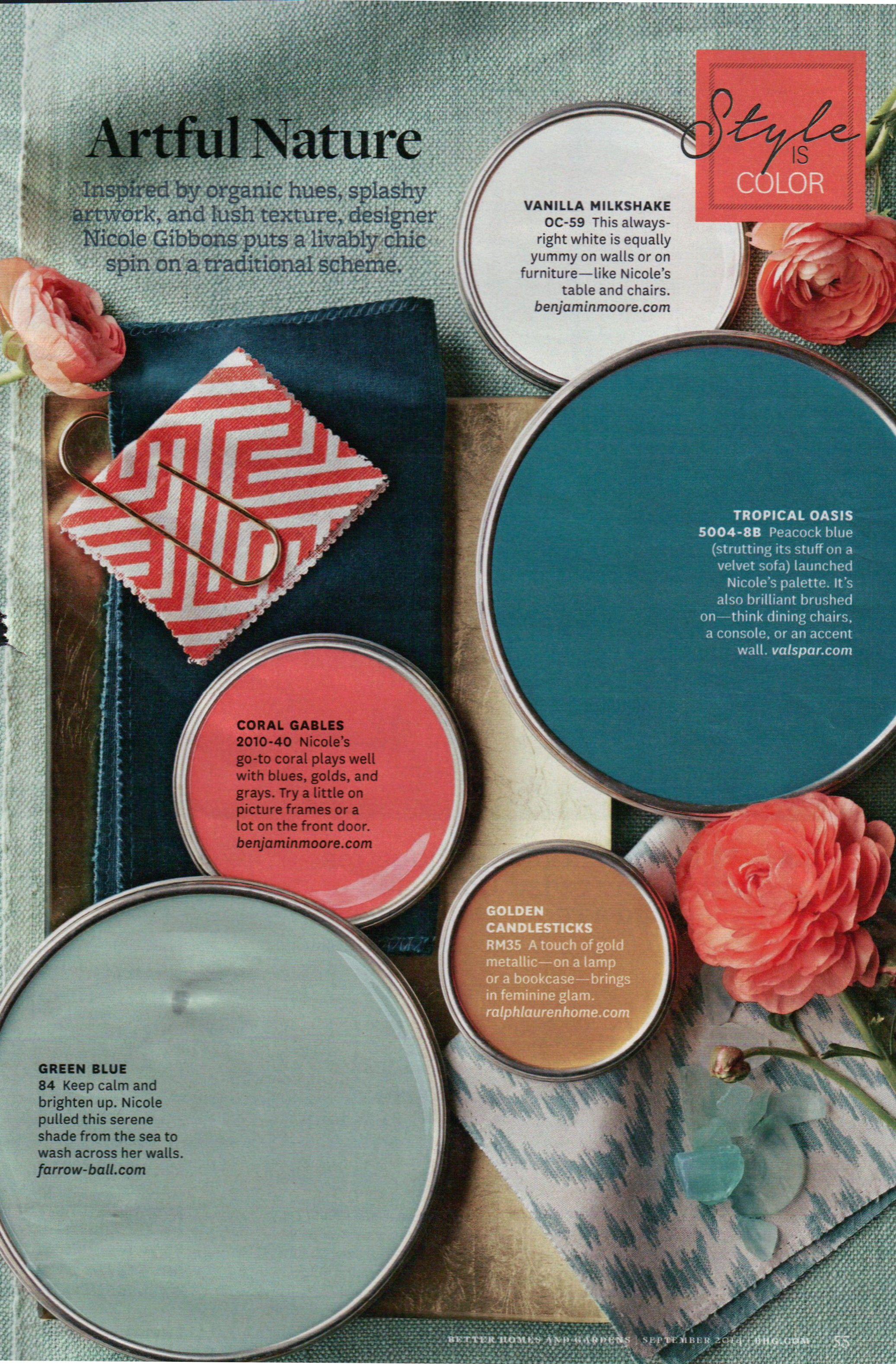 Color Palette for Basement; Benjamin Moore Coral Gables