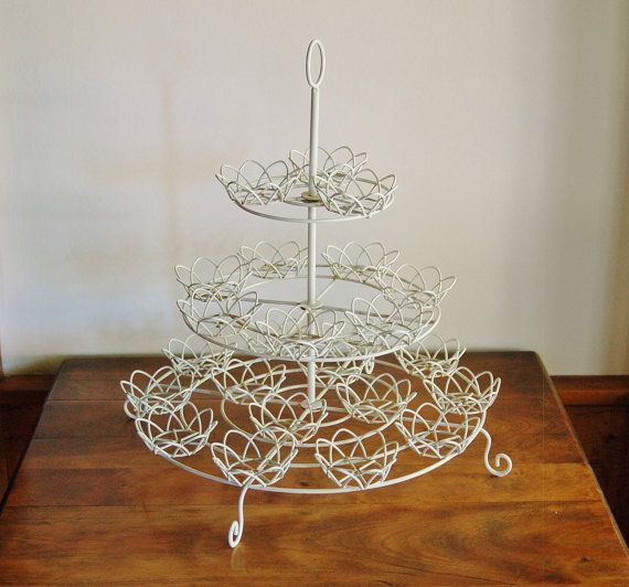 3 Piece Metal Cake Stand with Glass Top 10-3//4-Inch