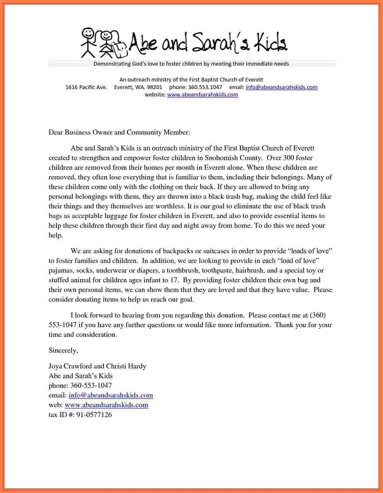 Letter format for Donation Request Fresh 8 Donation Request Letter for Church