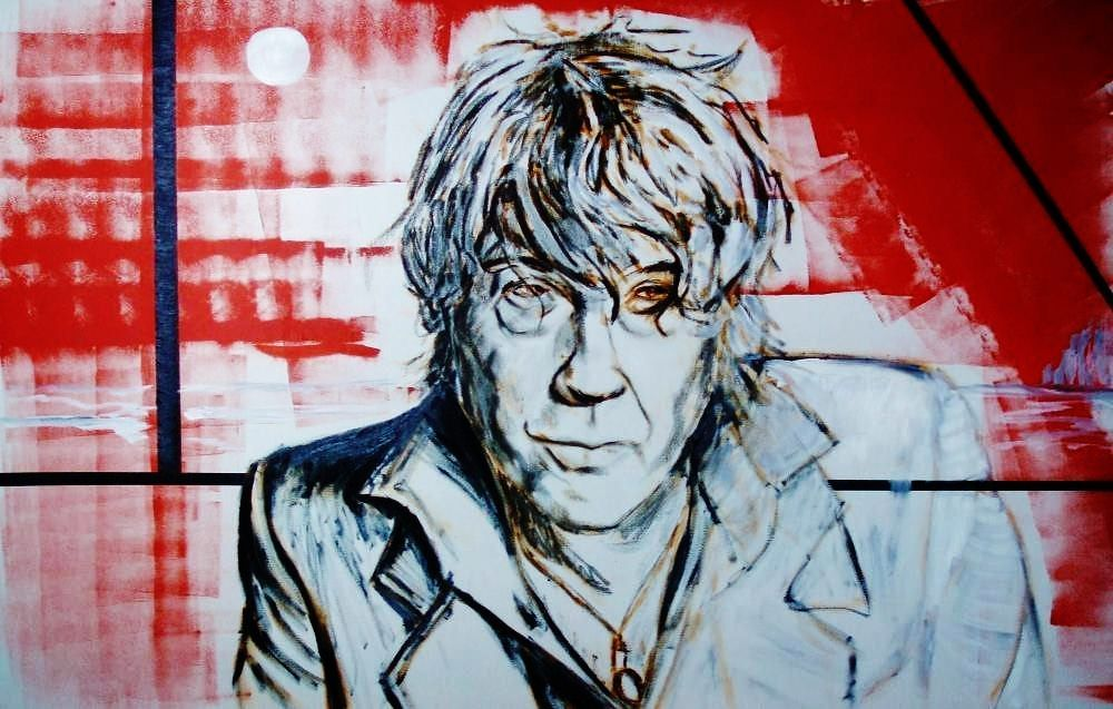 Portrait of the Belgian singer Arno Hintjes (T.C.Matic) paint by Geert Coucke - Style:Art Now/Recent 2012