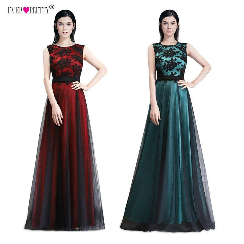 f03ef32fb7 Vestido de Festa Longo Real Photo Lace Appliques Long Evening Dresses 2018  Cheap Evening Party Dresses Robe De Soiree Longue