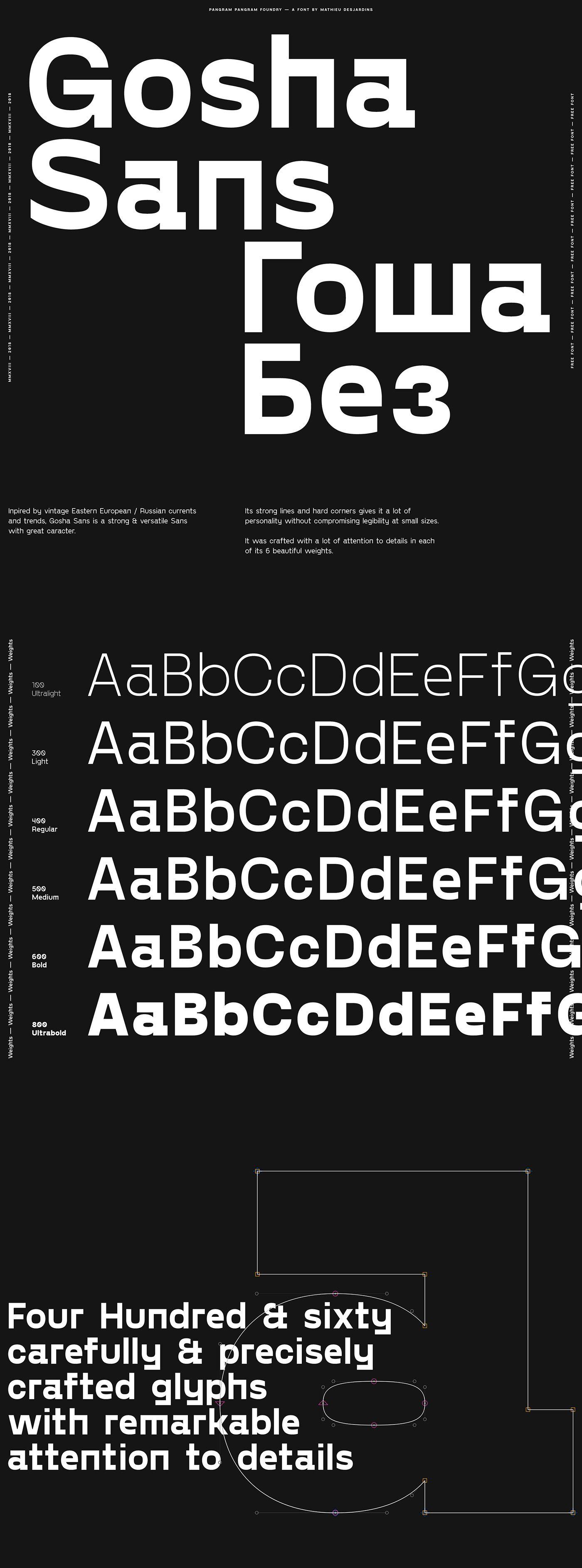 Gosha Sans / Гоша Без — Free Font on Behance Free font