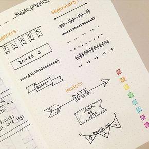 手帳 ノートをお洒落に彩る 簡単デザイン文字の書き方8選 Con Imagenes Libreta De Apuntes Planner Bullet Journal Bullet Journal Doodles