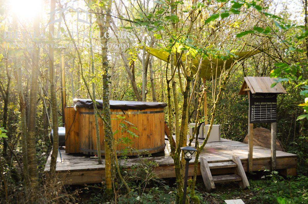 bain nordique installe sur terrasse bois #BAINS #NORDIQUE - installer une terrasse en bois