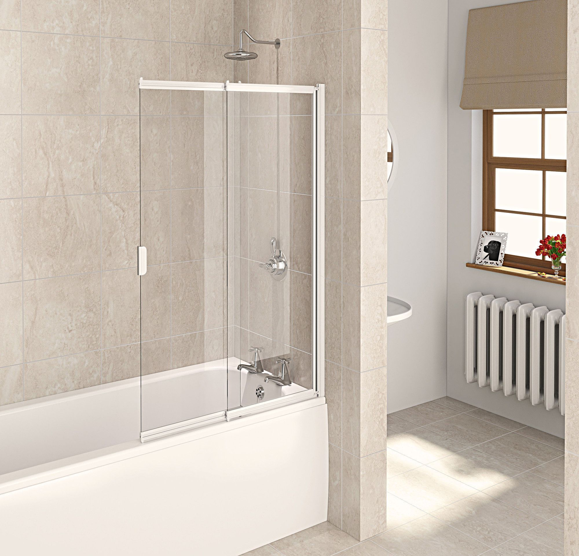 aqualux-white-aqua-4-clear-glass-2-panel-sliding-bath ...