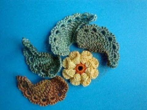 Как вязать листик крючком Урок 293 How to crochet leaf - YouTube
