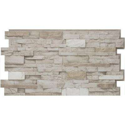Urestone 24 In X 48 In Stacked Stone 45 Almond Taupe Stone
