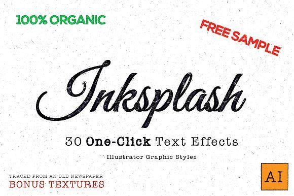 Inksplash - Illustrator Text Effects Best Infographic templates