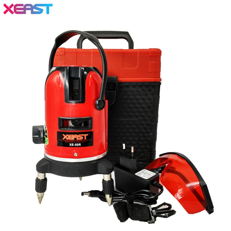 Xeast Xe 50r 5 Lines 6 Points Laser Level Outdoor Model Tilt Function 360 Rotary Self Lleveling Cross Laser Beam Line Leveling Line Level Cool Things To Buy Rotary