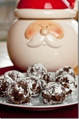 No-bake snowball cookies!