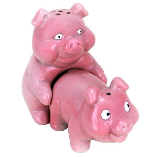 Funnysaltandpeppershakers Naughty Pigs Salt And Pepper Shakers