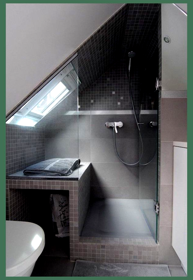 15 Attics Turned Into Breathtaking Bathrooms Small Attic Shower Room Ideas Loft Bathroom Houzz At In 2020 Small Attic Bathroom Bathroom Makeover Attic Shower