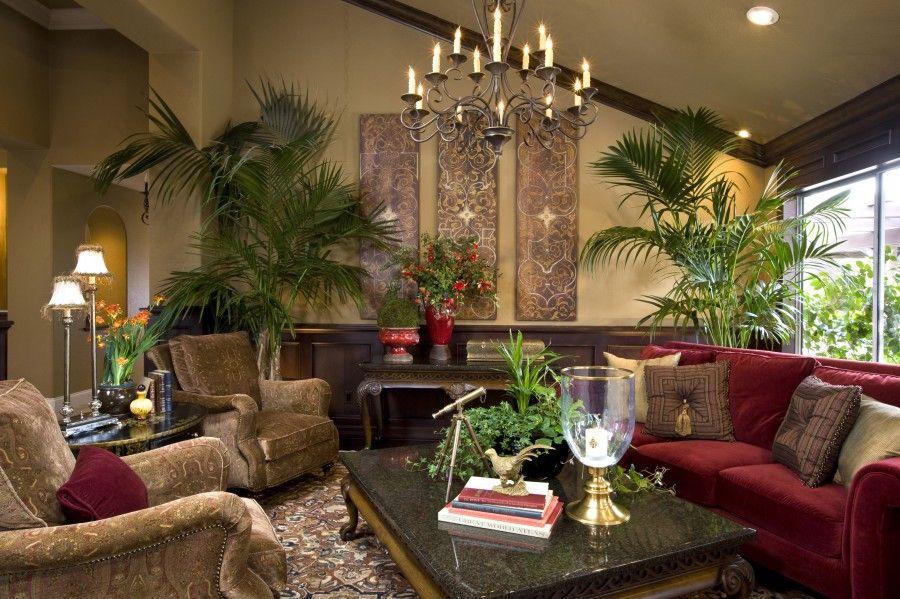 Beautiful Mediterranean Living Roomi