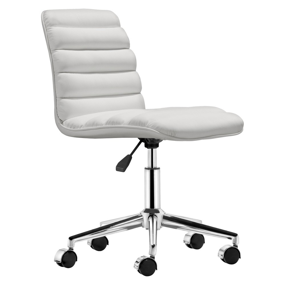Modern Upholstered Adjule Armless Office Chair