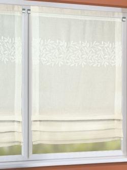 Bezaubernd sch ner gardine im landhausstil mit bl ttern for Raffrollo landhausstil