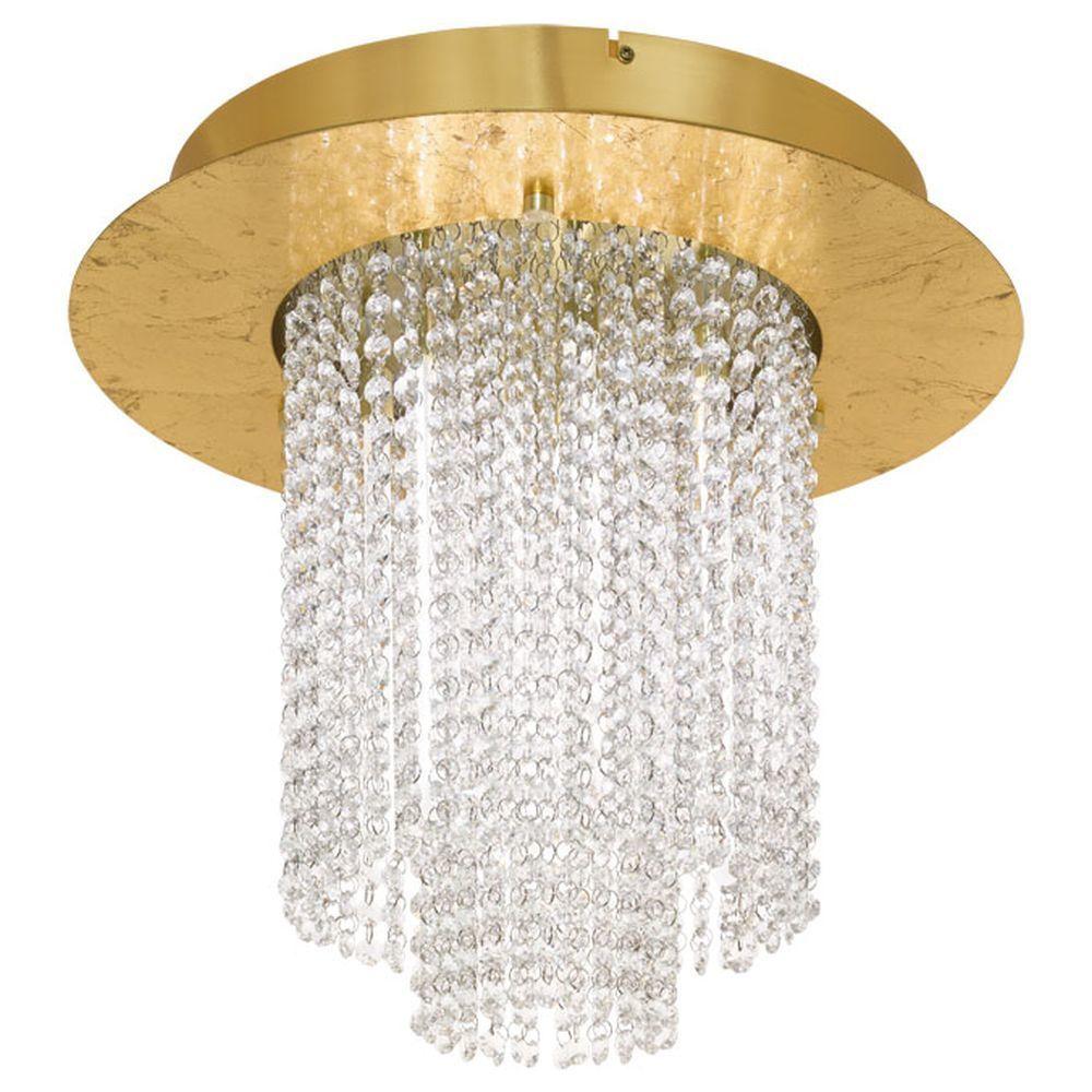 Led Deckenleuchte Vilalones In Gold Mit Kristallen Eglo 39398