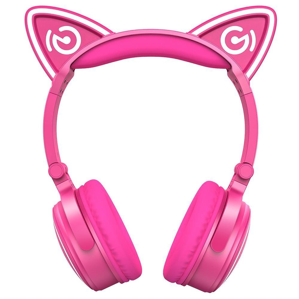 Cat Ear Headphones Mindkoo Unicat Wireless Led Light Earphone Wireless Cat Ear Headphones Cat Ear Headphones Pink Headphones