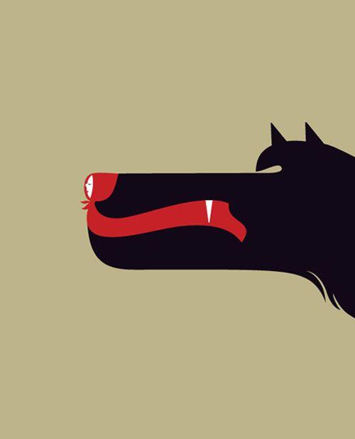 Chapeuzinho Vermelho, a cachorra da floresta.