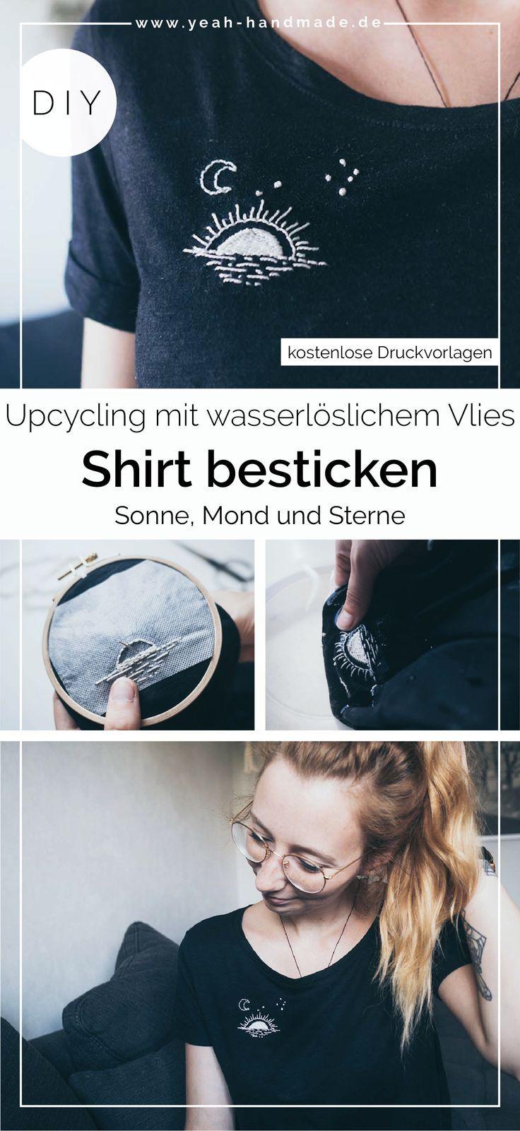 Photo of DIY Upcycling: Hemd mit Sonne, Mond und Sternen sticken • Ja, handgemacht