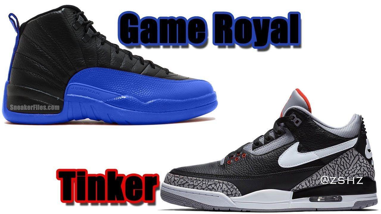 Air jordan 12 game royal 2019 jordan 3 tinker black