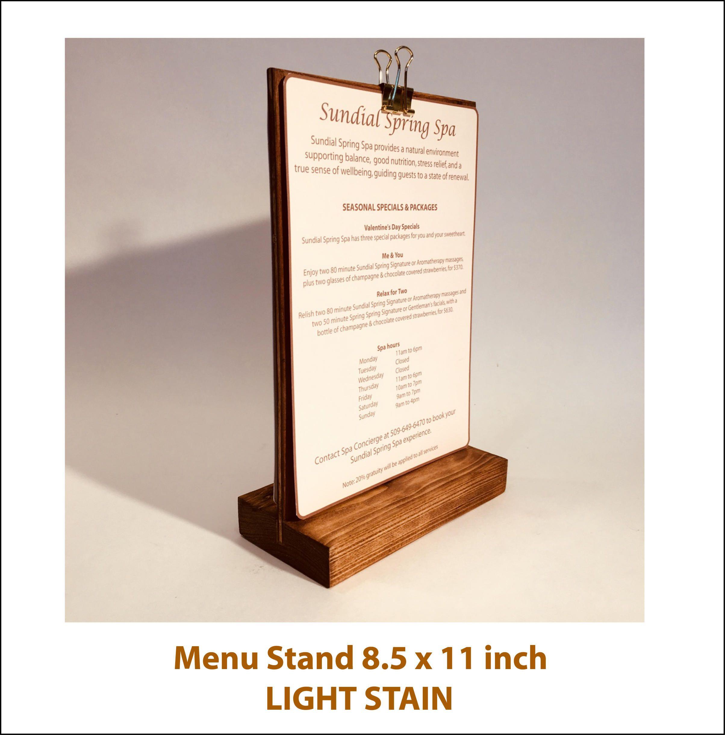 Sign Stand Menu Holder Display Stand Set 100 Retail