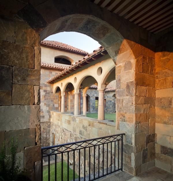 Tuscan Villa Style Homes Tuscan Style Homes Designs Ideas: Bell Tower Courtyard And Veranda Of Tuscan Villa