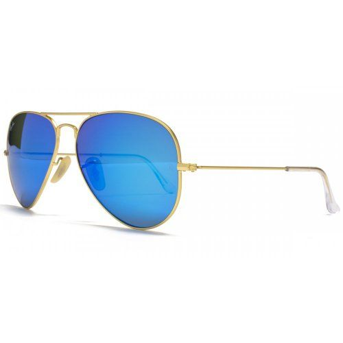 bf6cce8adec5e Ray-Ban Aviator Sunglasses en Mate Gold Blue Mirror - RB3025 112 17 58  RB3025 112 17 58
