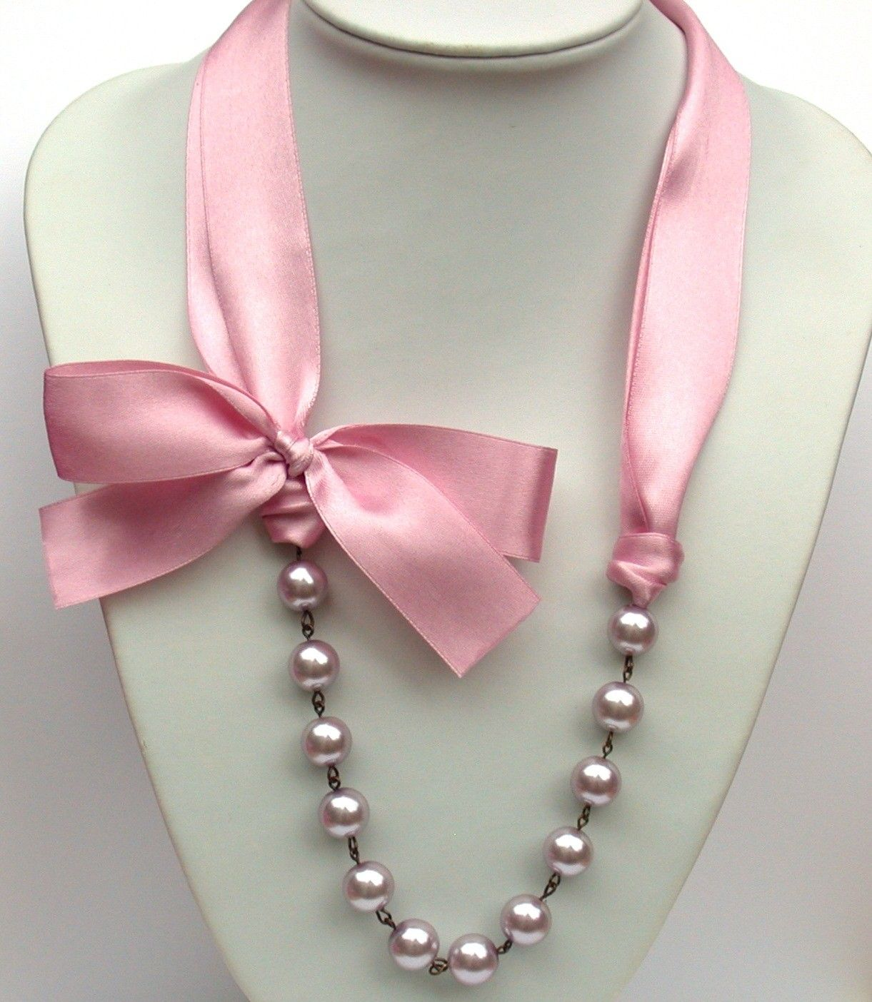 satin strand multiple inspired and pearl pin the black necklace wedding sex in bride city bridesmaids for ribbon formal perfect ribbons color