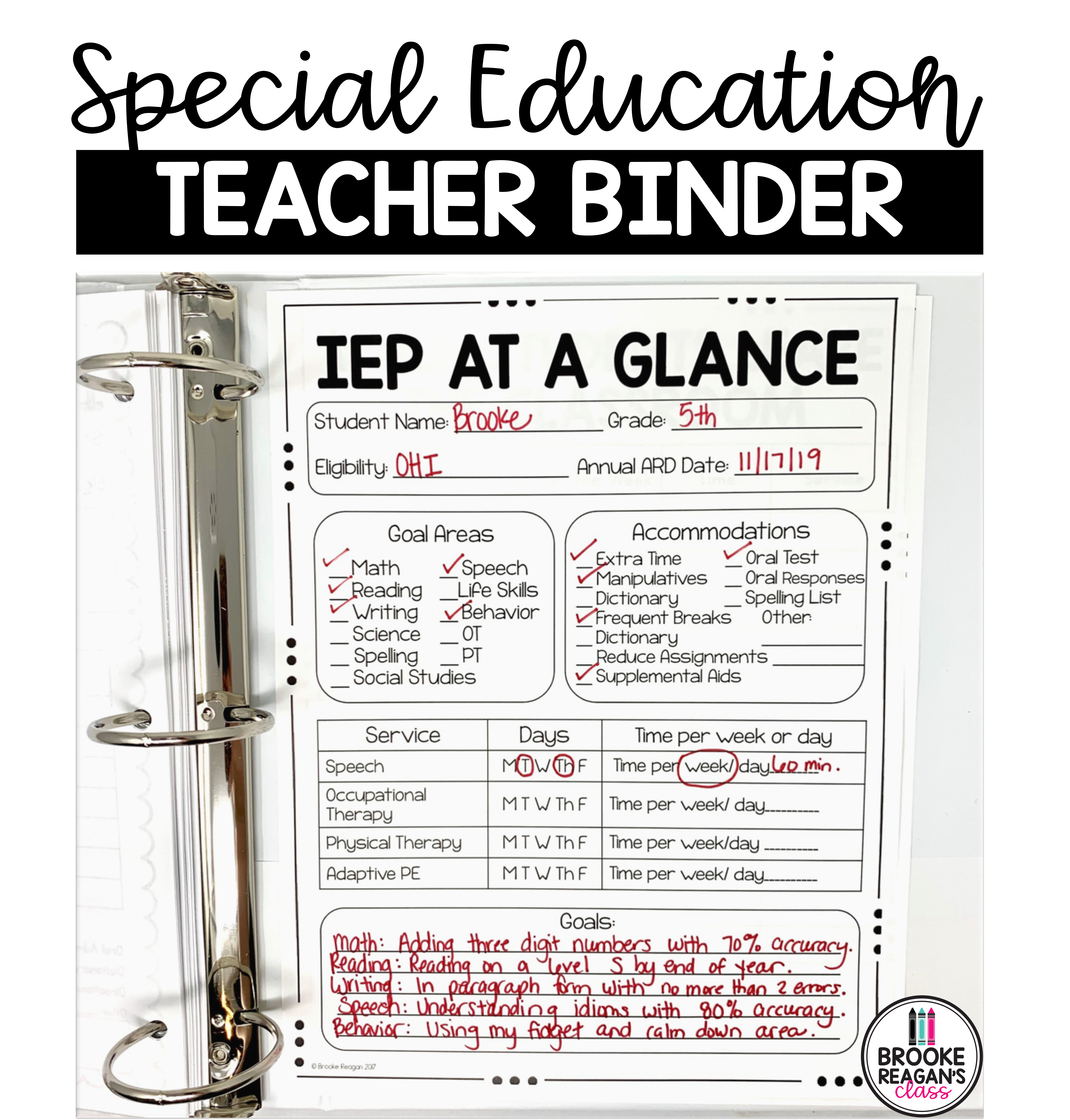Special Education Teacher Binder Has Everything You Need