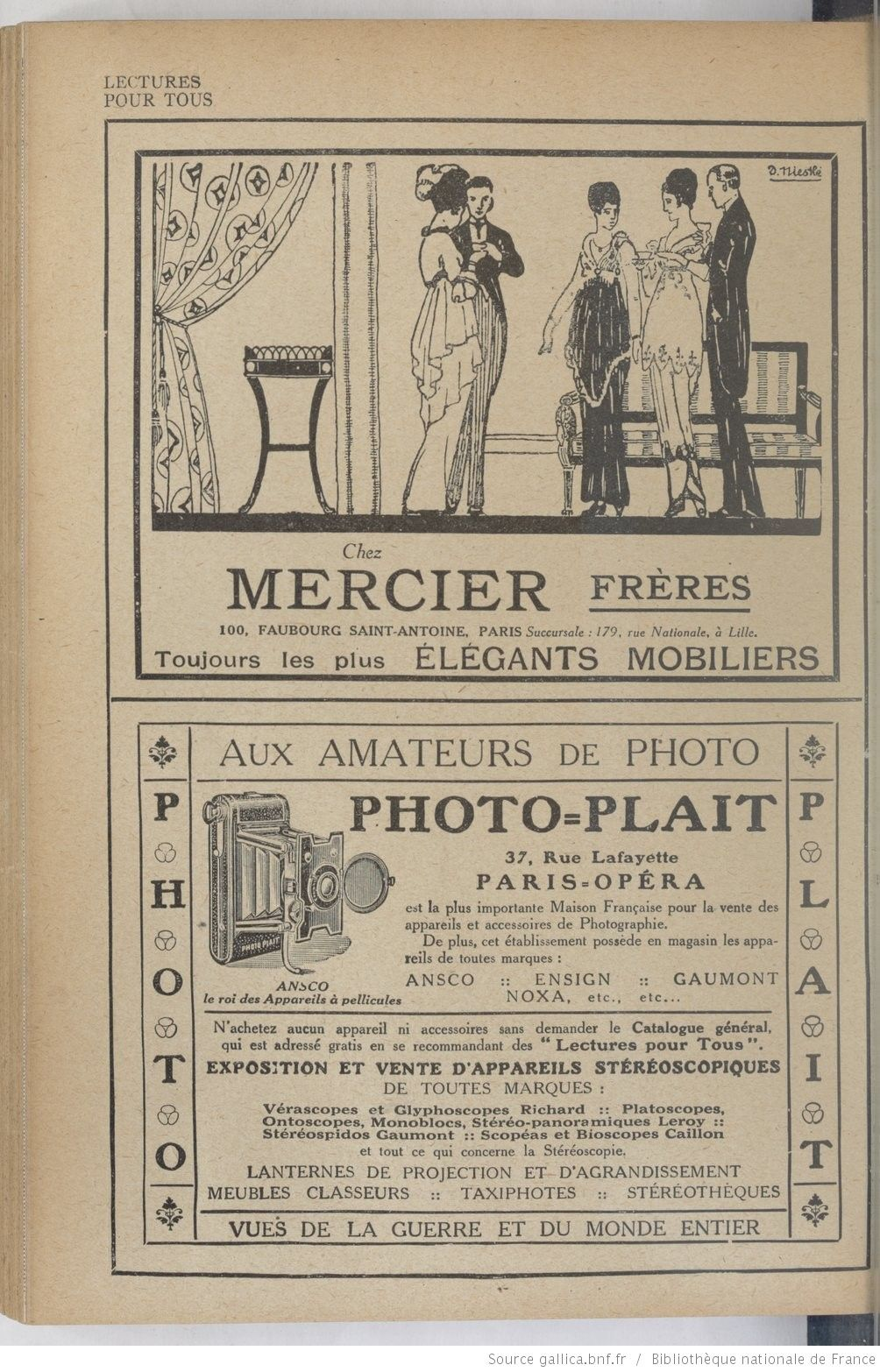 Lectures pour tous : revue universelle et populaire illustrée | 1920-02-01 | Gallica