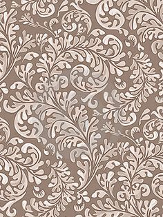 Vintage Patterned Wallpaper