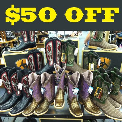 Ariat Mens & Ladies Caiman Boots. In store only http://baskins.com ...