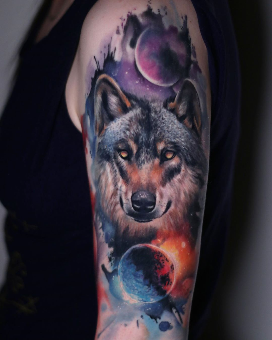 Wolf Tattoo By Gunnar V Post 12830 Animal Tattoo Wolf Tattoo Animal Tattoos