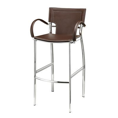 Sunrise Home Furnishings 8406BW-PC Michael Pub Stool This product by Sunrise Home Furnishings comes in a chrome finish. It is offered with brown bonded