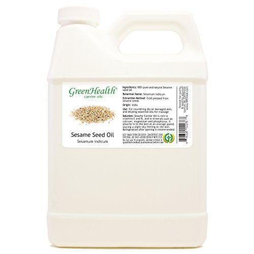 Sesame Seed Oil - 32 fl oz (946 ml) Plastic Jug w/ Cap - 100% Pure Carrier Oil - GreenHealth #plasticjugs Sesame Seed Oil - 32 fl oz (946 ml) Plastic Jug w/ Cap - 100% Pure Carrier Oil - GreenHealth #plasticjugs Sesame Seed Oil - 32 fl oz (946 ml) Plastic Jug w/ Cap - 100% Pure Carrier Oil - GreenHealth #plasticjugs Sesame Seed Oil - 32 fl oz (946 ml) Plastic Jug w/ Cap - 100% Pure Carrier Oil - GreenHealth #plasticjugs
