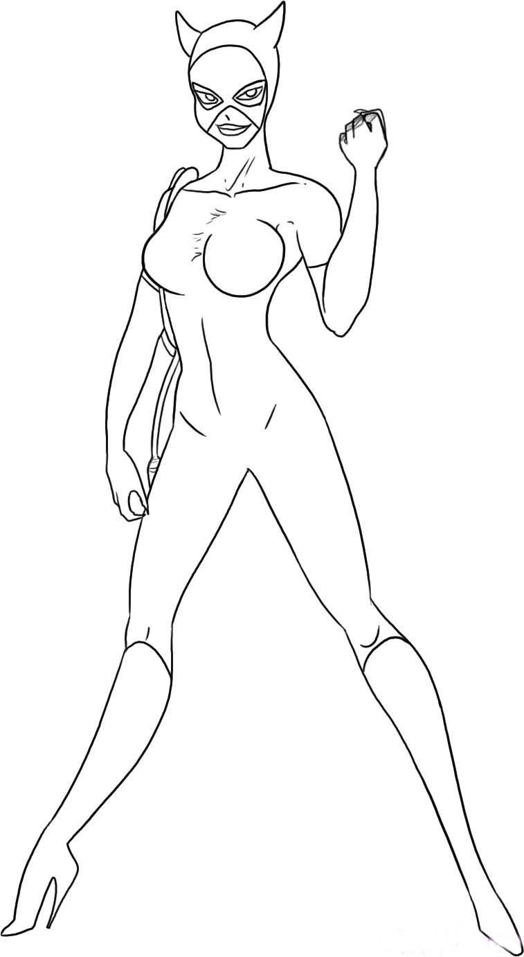 Catwoman Coloring Pages Coloring Pages Superhero Coloring Pages Batman Coloring Pages