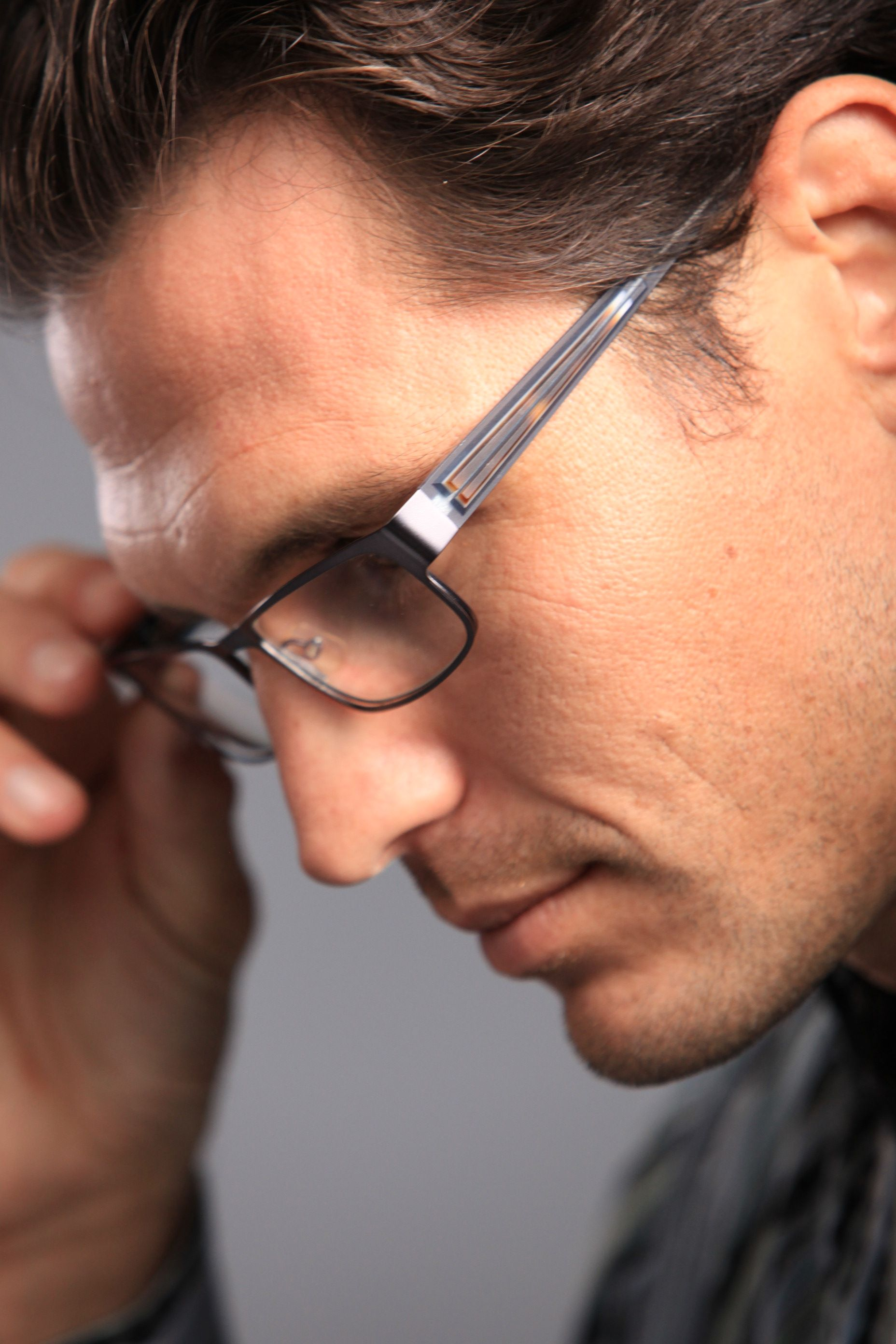 Jhane Barnes PERMUTATION Black Eyeglasses Size57-17-145.00