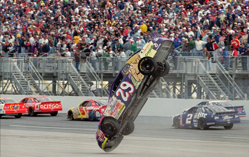 Robert Pressley Flip Daytona Nascar Race Cars Nascar Crash Nascar Wrecks