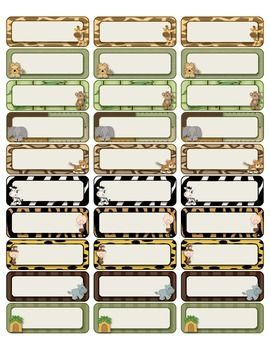 Jungle avery 5160 labels jungle theme classroom ideas for Avery template 48863